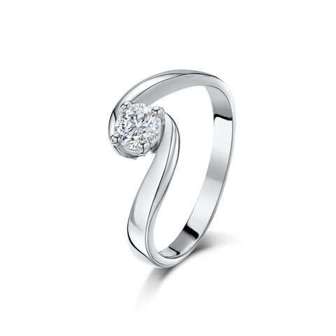 Hummingbird Diamond Engagement Ring (plain shoulders)