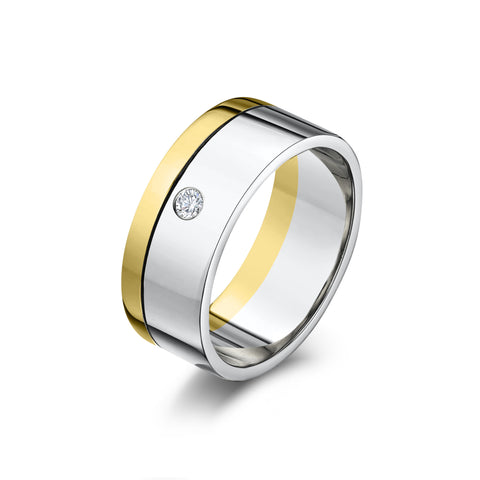 Yellow, White Gold & Diamond Ring