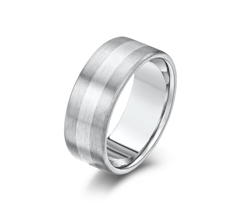 Palladium & Silver Wedding Band