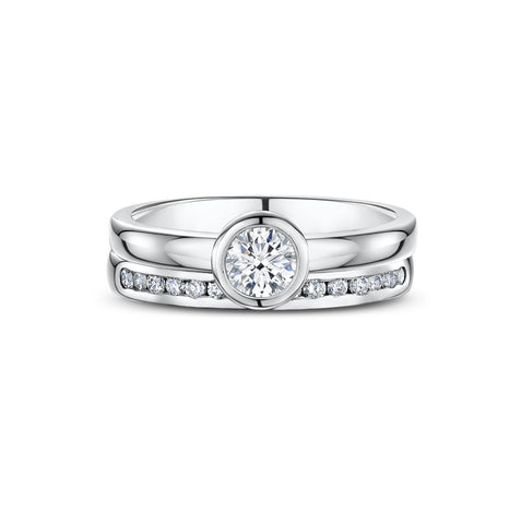 Diamond Engagement & Wedding Set
