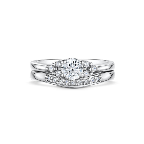 Diamond Engagement and Wedding Set