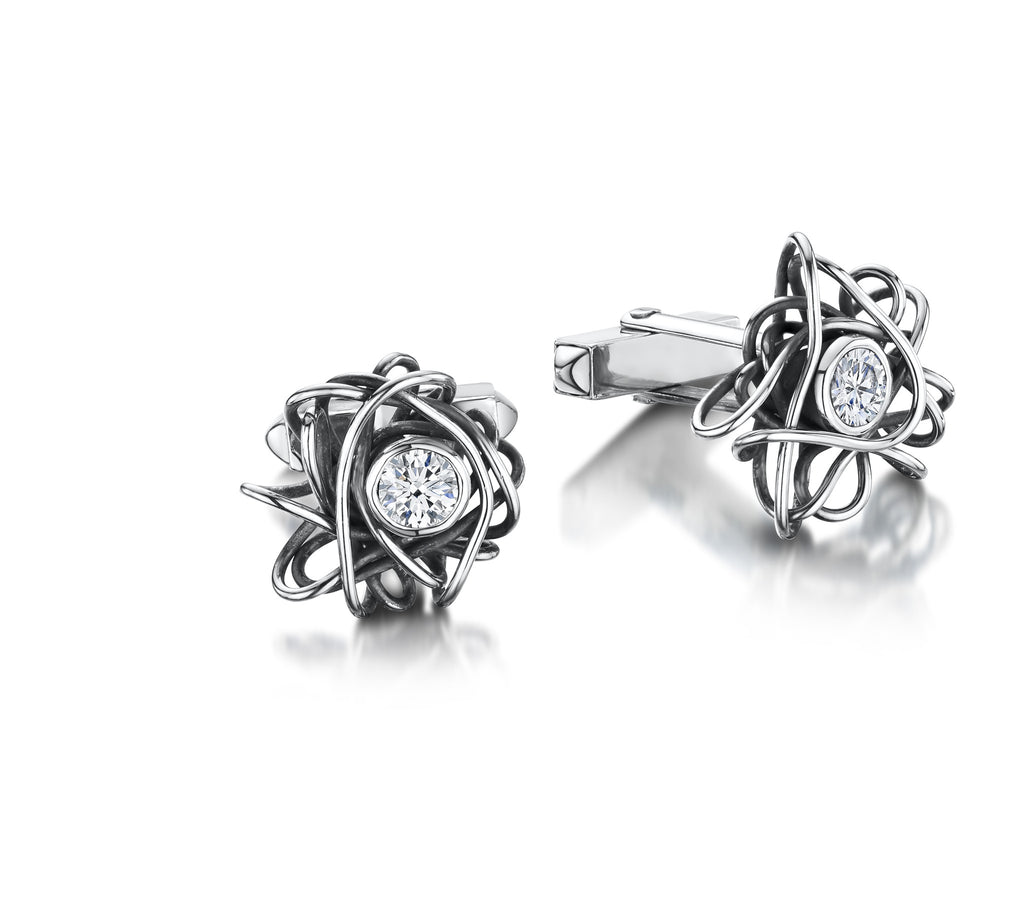 Beautiful Mess Zirconia Cuff Links