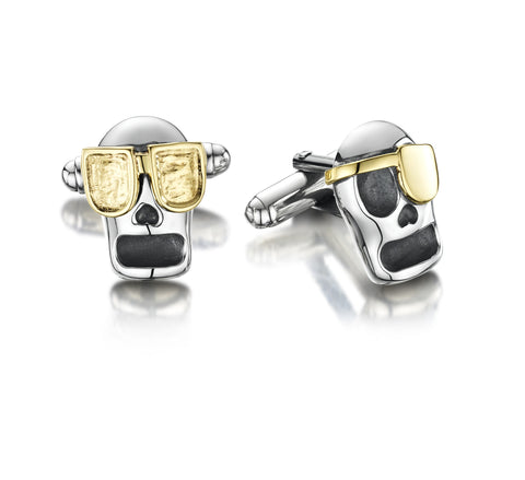 Skully cuff links