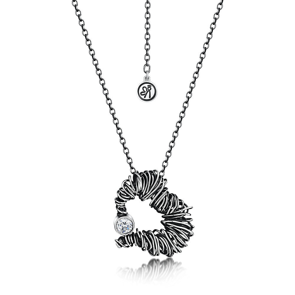 Beautiful Mess Heart Zirconia Necklace