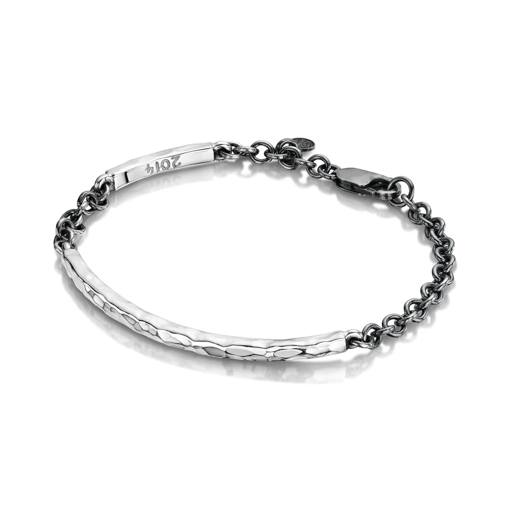 Men's Beaten Bangle & Chain