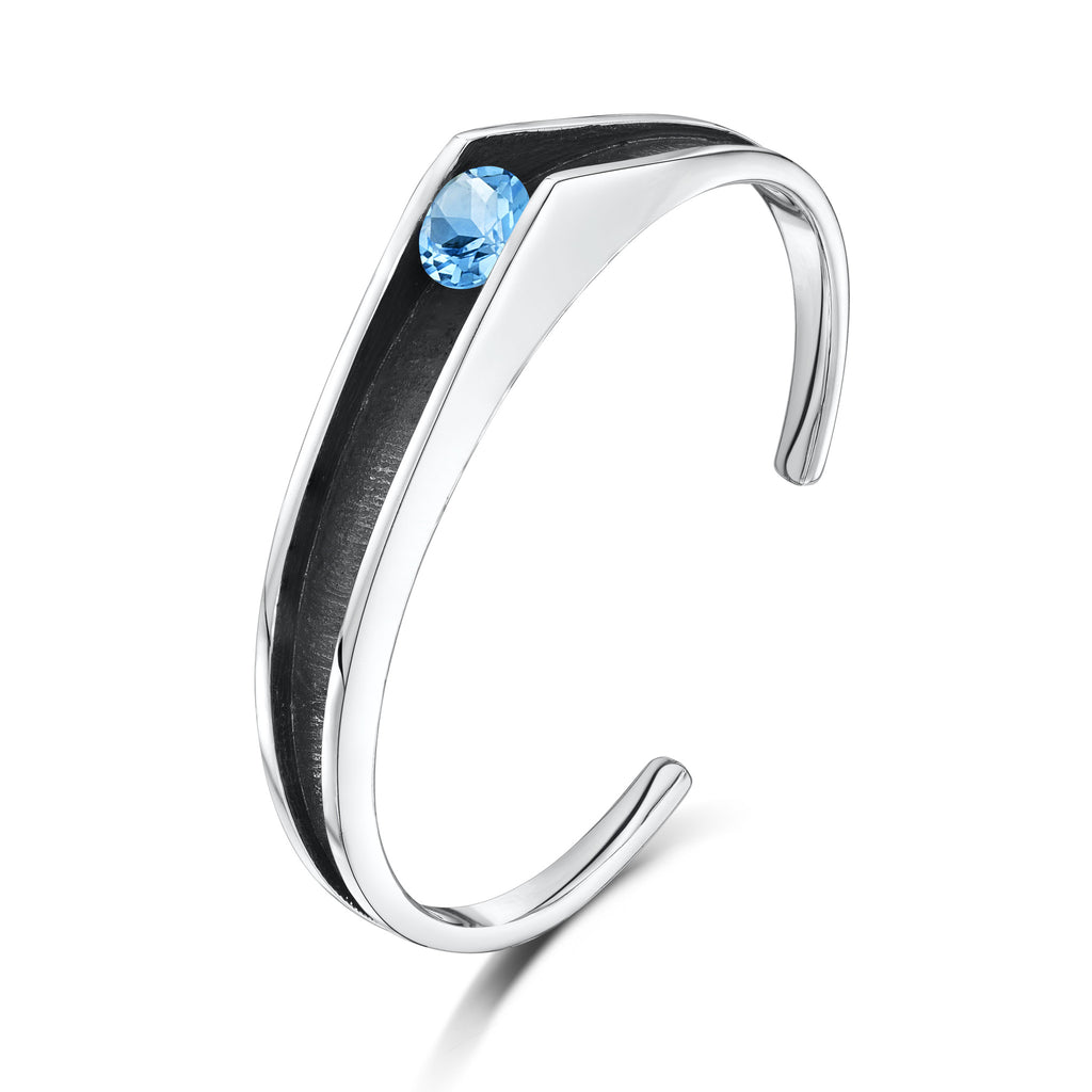 Sleek Silver Contrasts Bangle (R1 Bangle)