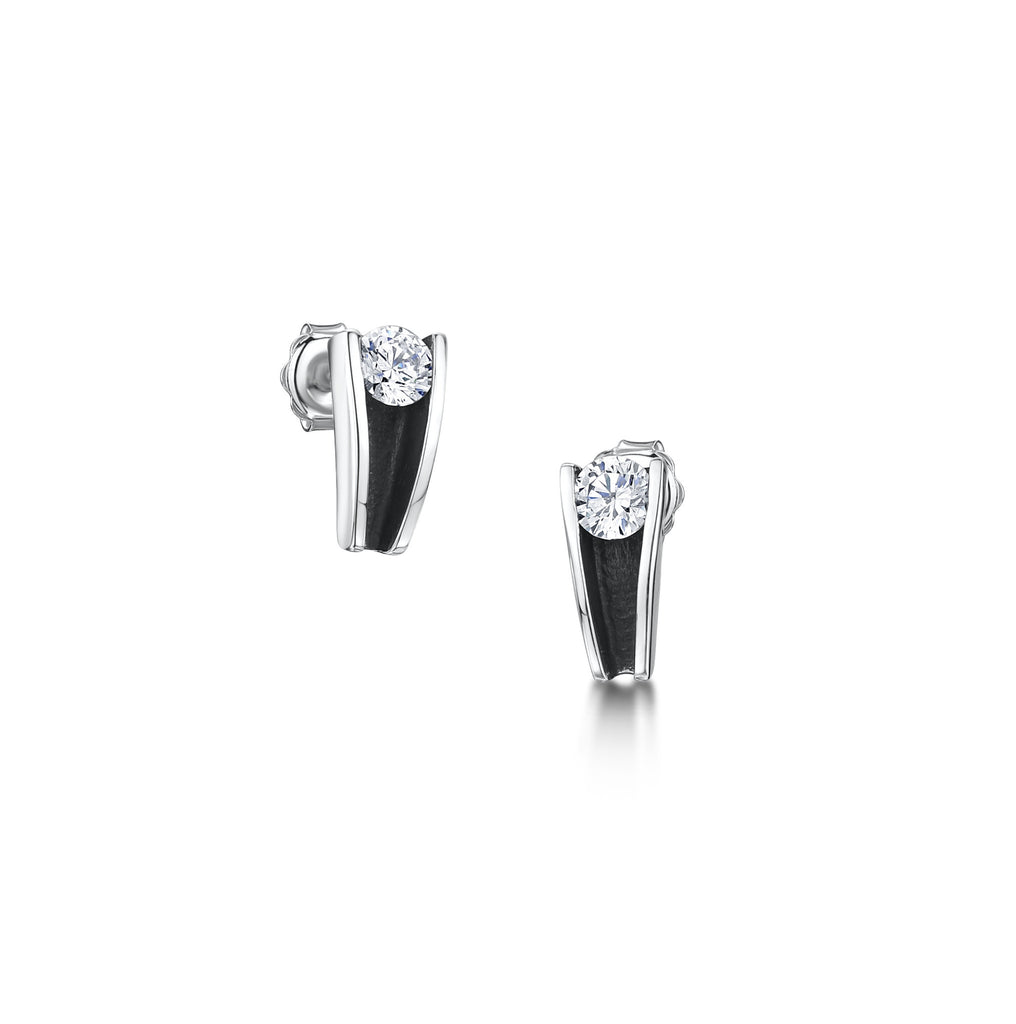 Silver 5mm Stone Stud Earrings (R1 earrings)
