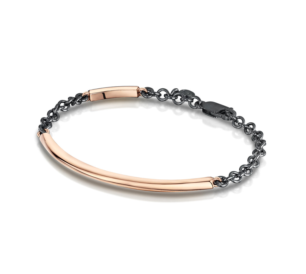 Smooth Bangle & Chain Bracelet