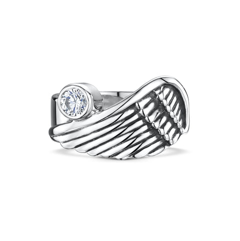 Angel Wing Ring with Cubic Zirconia