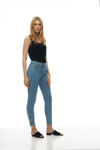 "Yoga Jeans - Rachel Skinny - 27"" Inseam with Zip - Polaroid"