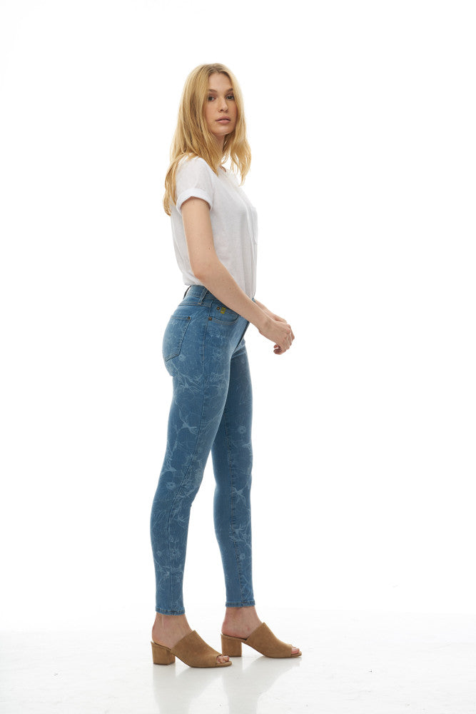 "Yoga Jeans - Rachel Skinny - 30"" Inseam -  Flower Power"