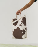 BAGGU Recycled Canvas Duck Tote Bag -Brown cow