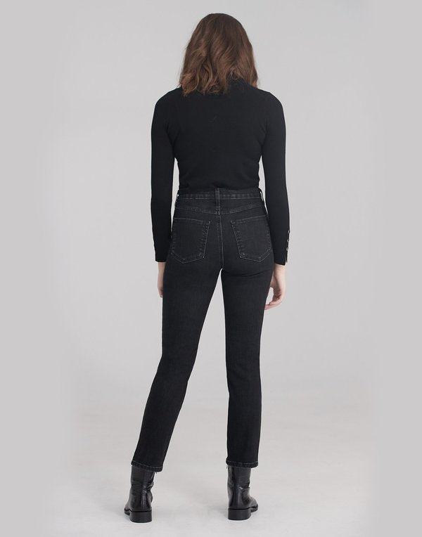 "Yoga Jeans Emily Slim 30"" Inseam- Black Raven"
