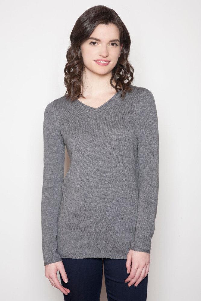 Echo Verde Classic V-Neck Sweater