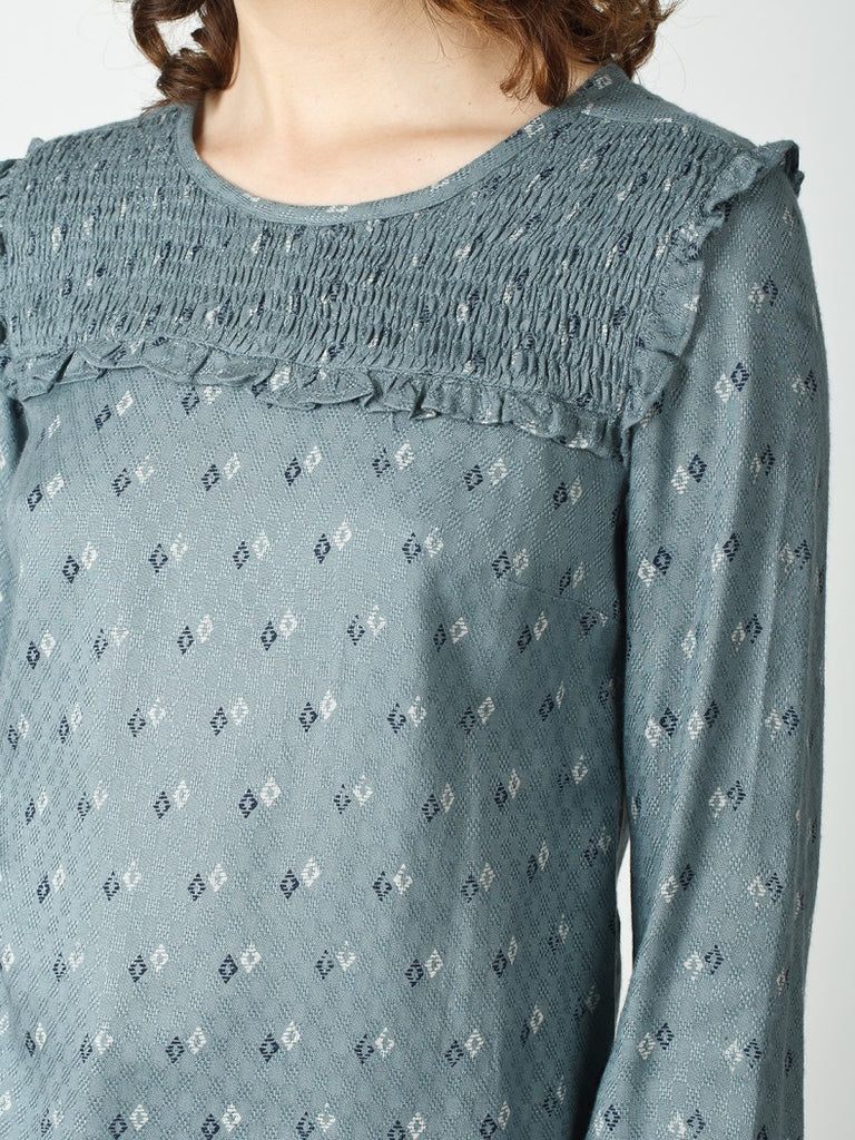 Indi & Cold Smock Detail Blouse