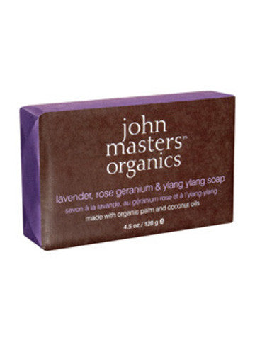 John Masters Lavender Rose Geranium and Ylang Ylang Soap