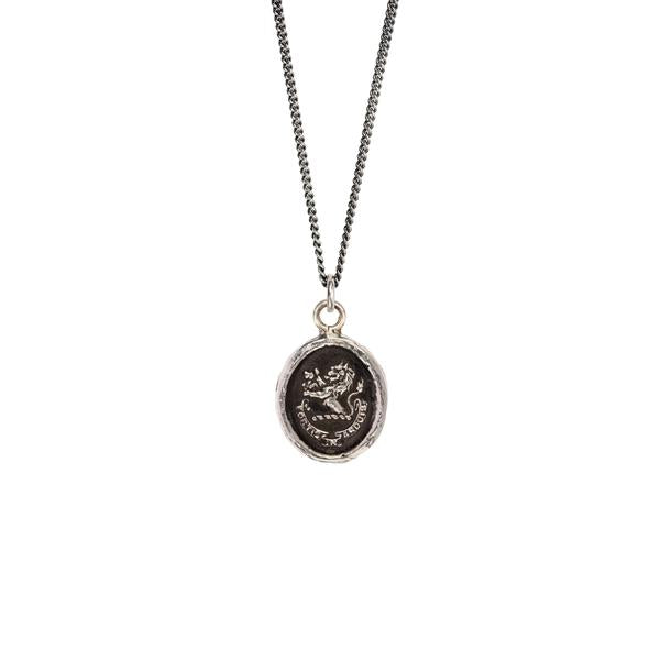 Pyrrha Brave in Difficulties Pendant Necklace