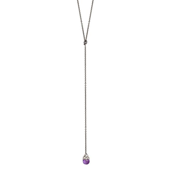 Pyrrha Amethyst Lariat Necklace