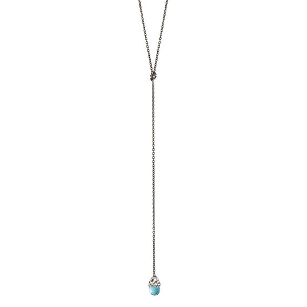 Pyrrha Apatite Lariat Necklace