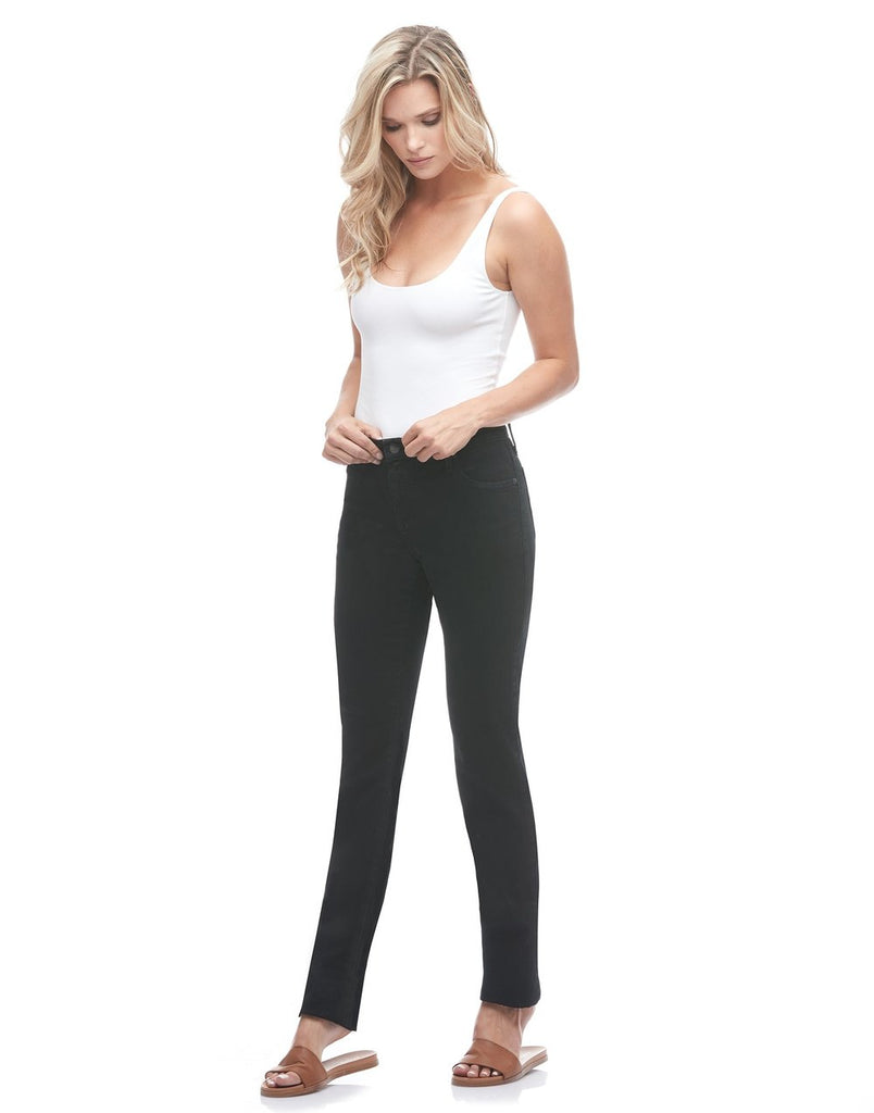 "Yoga Jeans CHLOE Straight-Leg Jeans 34"" Inseam - Black"