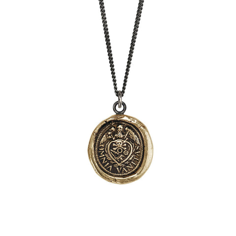 Pyrrha Bronze Vanity Pendant Necklace