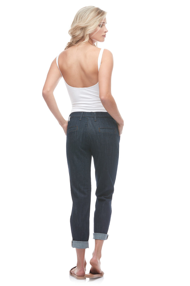 "Yoga Jeans Malia Relaxed Slim Cropped Chino 28"" - Rome"