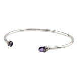 Pyrrha Balance Amethyst Capped Attraction Charm Open Bangle