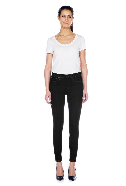 "Yoga Jeans RACHEL Ankle Zip 28"" Inseam - Black"