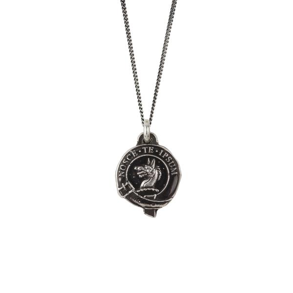 Pyrrha Wolf Honor Badge Pendant Necklace