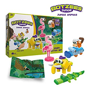 Introduce younger learners to the world of jungle animals and construction! - Botzees Junior - Jungle Animals