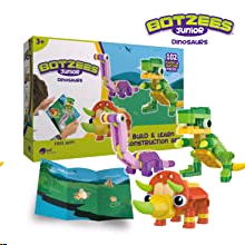 Playmat and stickers included! - Botzees Junior - Dinos