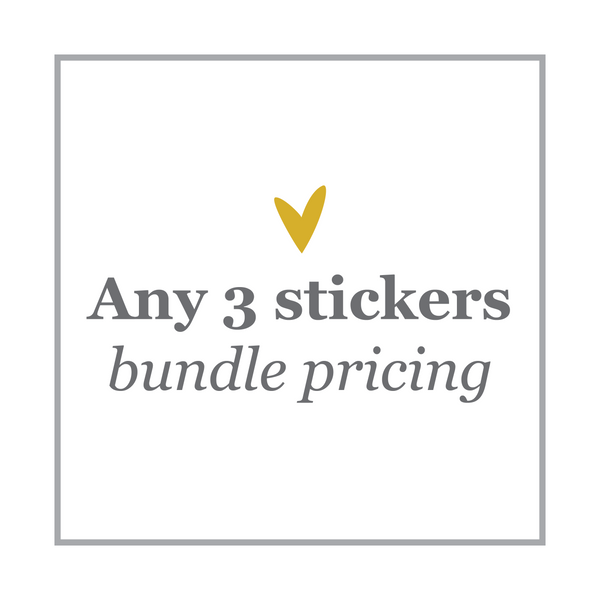 3 Sticker Bundle