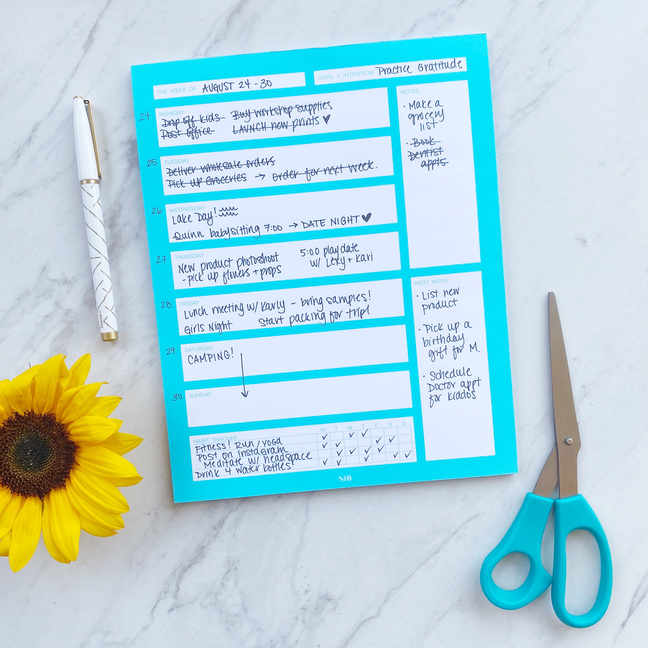 Turquoise // Weekly Planner