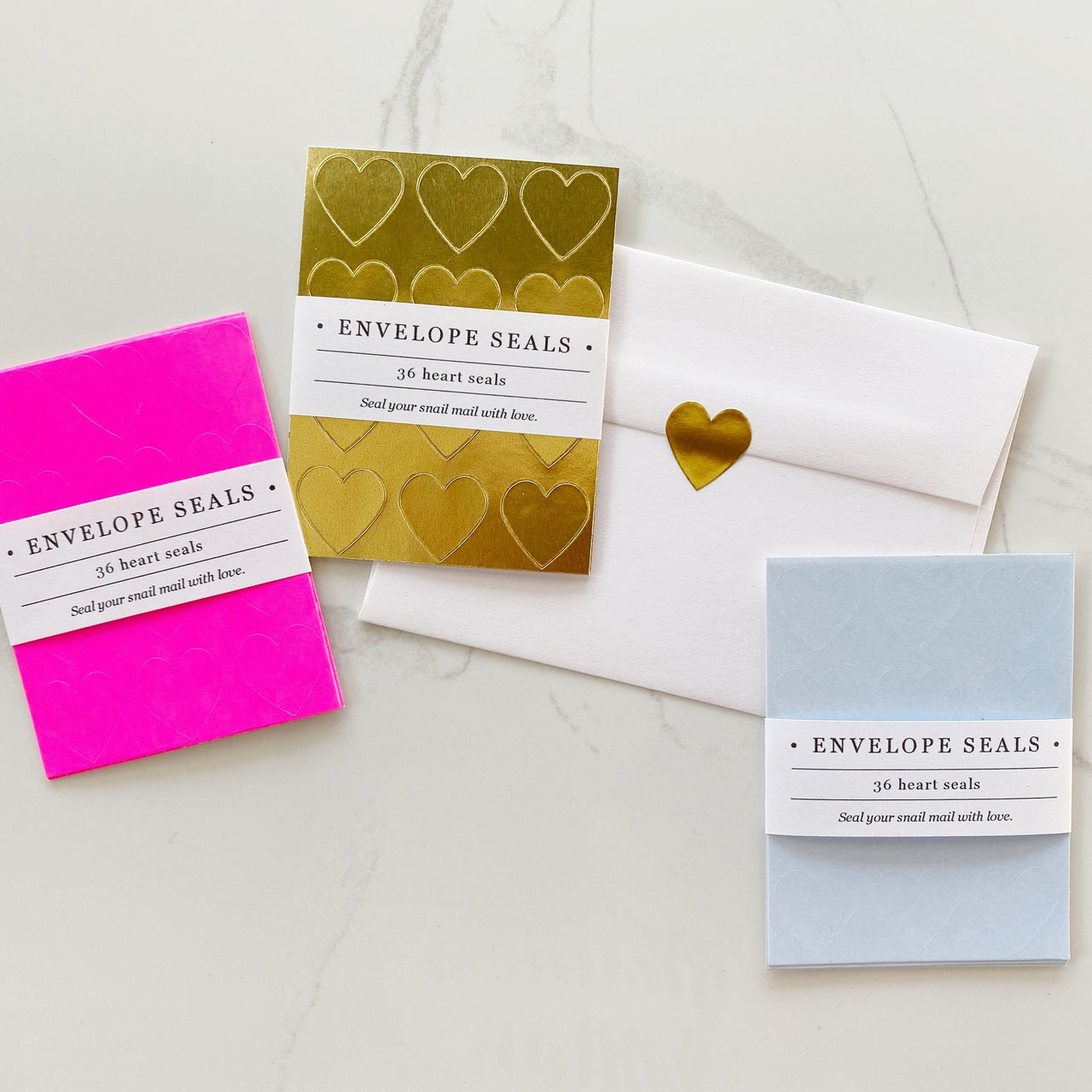 Heart Envelope Seals