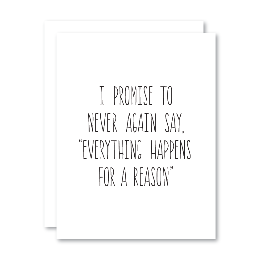 I Promise to Never Again Say...