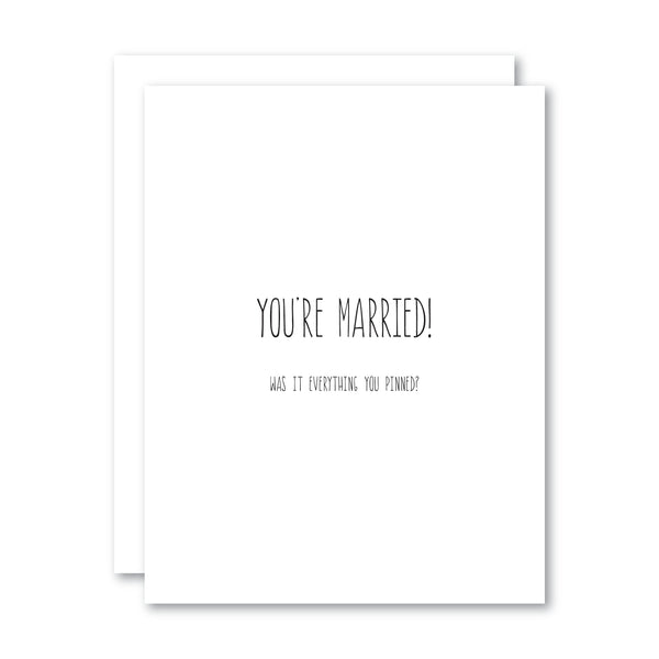 You're Married!