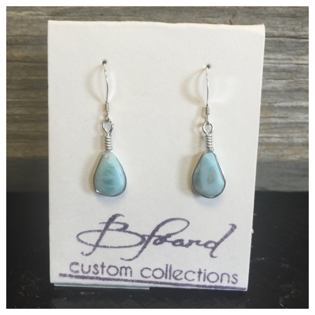 handcrafted earrings larimar sterling by ana silver products co
