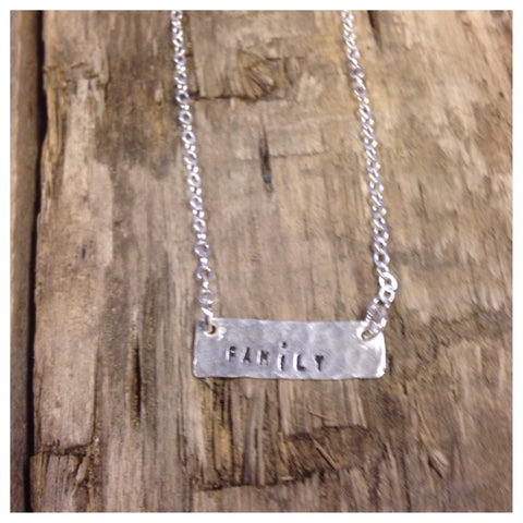 "Sterling silver necklace ""family"""