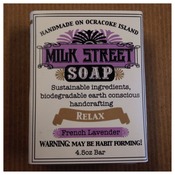 "Milk Street Soap "" Relax"" French Lavender Handmade on Ocracoke Island"