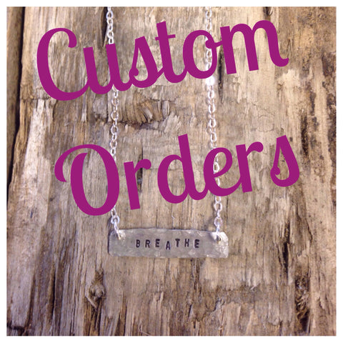 Custom Necklace Orders