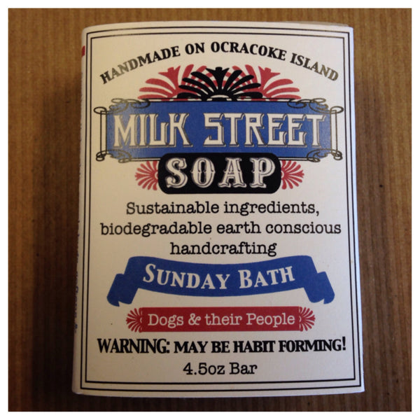 "Milk Street Soap ""Sunday Bath"" for Dogs and People Handmade on Ocracoke Island"