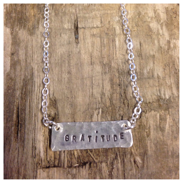 "Sterling Silver Necklace ""Gratitude"""