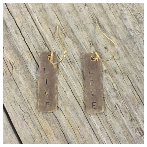 Live & Love Gold fill earrings