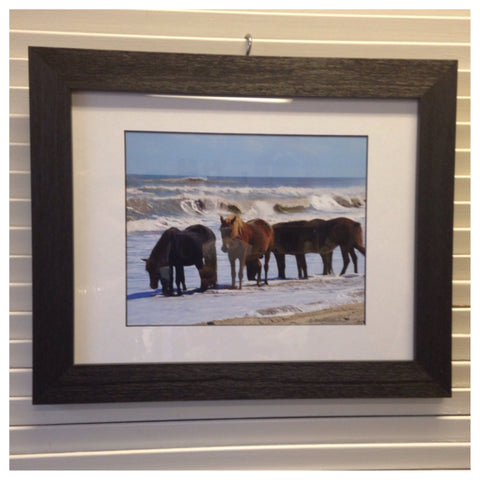 """Enjoying the surf with family""  framed photography"