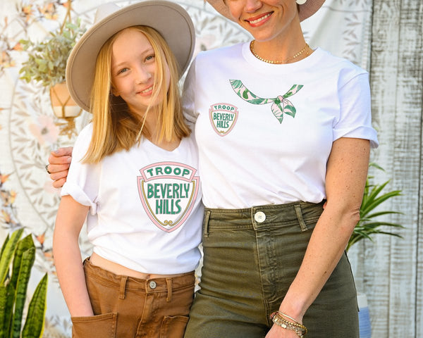 mother daughter mommy and me troop beverly hills costume idea DIY