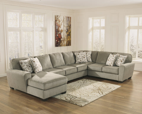 Patola Park Large Chaise Sectional - Patina