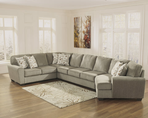 Patola Park Large Cuddler Sectional - Patina
