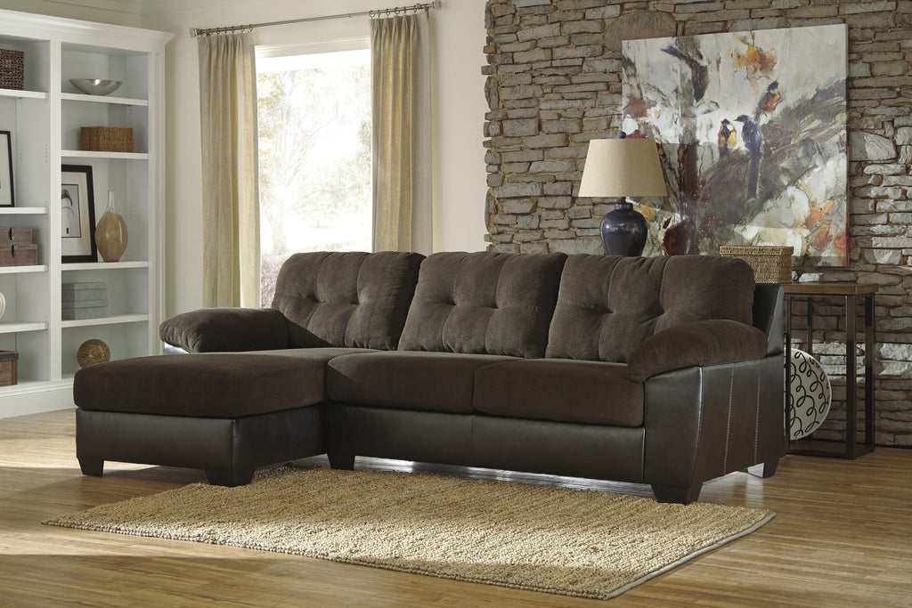Vanleer Chaise Sectional - Chocolate
