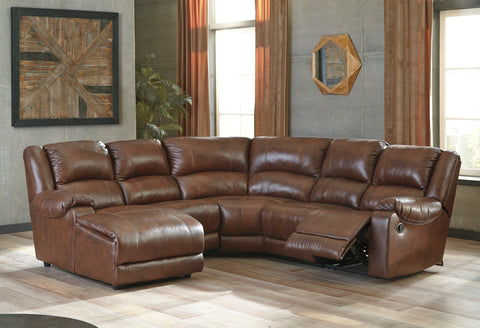 Billwedge Reclining Chaise Sectional - Canyon