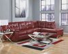 Alliston DuraBlend Chaise Sectional - Salsa